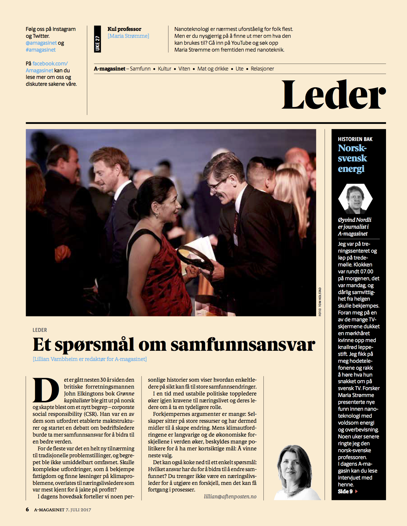 BusinessforPeace_Aftenposten_A-magasinet Page 2